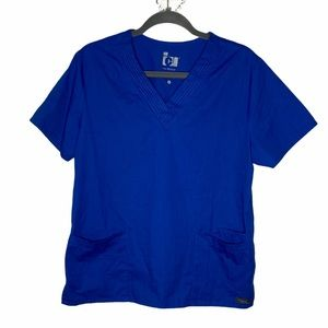 BARCO ICU Blue Scrub Top | M